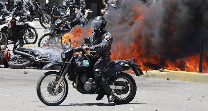 Explosión en Caracas