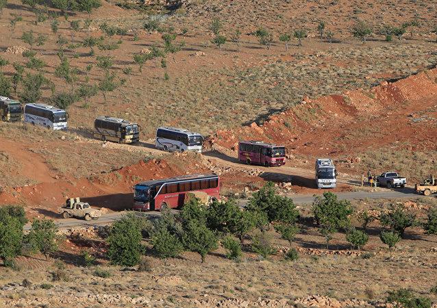 La retirada de terroristas de Al Nusra de Líbano a Siria