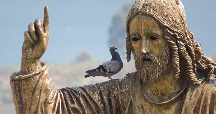 Una escultura de Jesús (una imagen referencial)