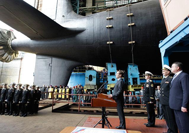 Botadura del submarino Severodvinsk del proyecto Yasen M