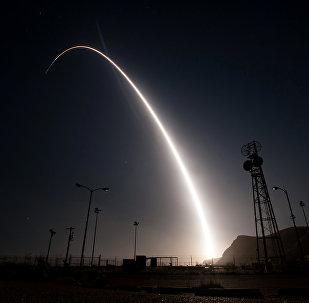 Prueba del misil balístico intercontinental Minuteman III (archivo)