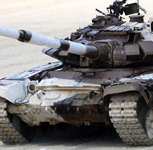 Un tanque durante los Army Games