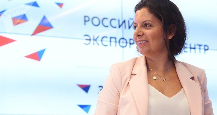 Margarita Simonián, directora de RT y Sputnik