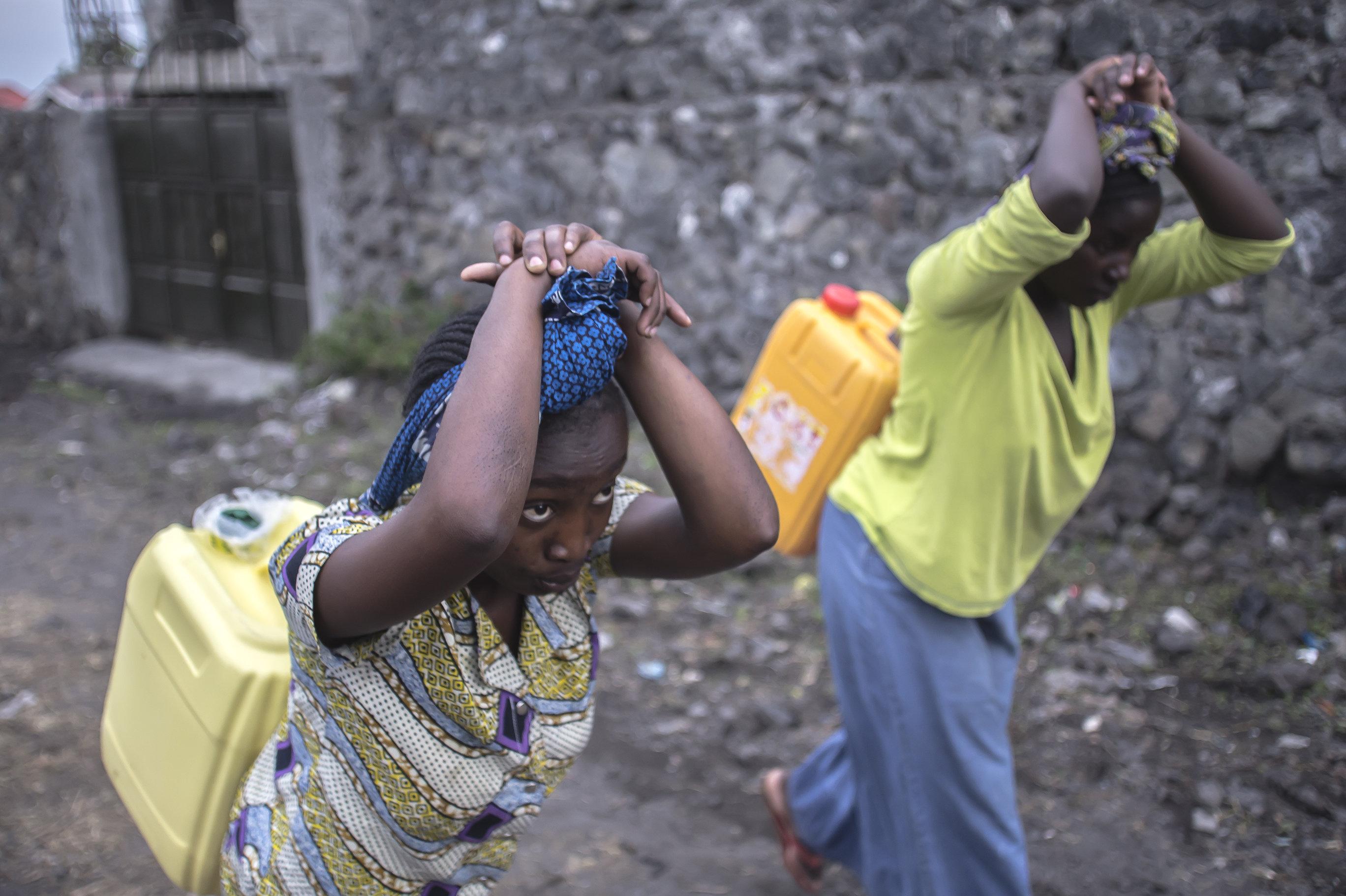 Hogar de niñas violadas, víctimas del líder rebelde Ntabo Ntaberi congoleño, conocido como Sheka