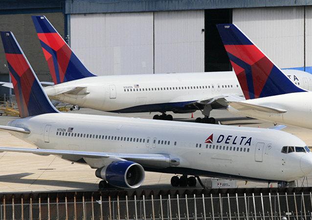 Aviones de la aerolínea estadounidense Delta Air Lines (archivo)