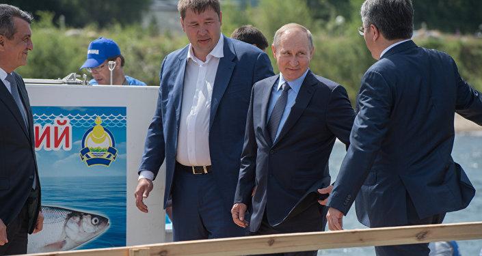 El presidente ruso, Vladímir Putin, durante una visita al Baikal el 4 de agosto de 2017