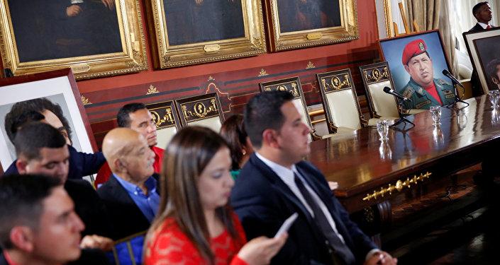La primera sesión de la Asamblea Nacional Constituyente en Venezuela