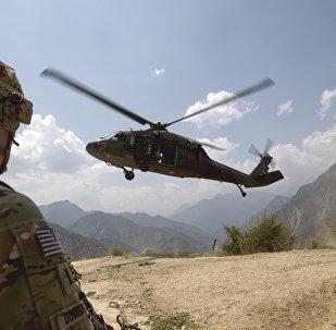 Un helicóptero militar de EEUU en Afganistán (archivo)