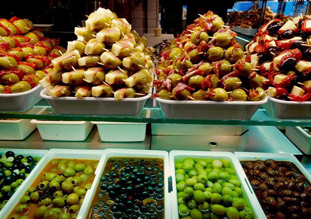 Aceitunas españolas (imagen referencial)