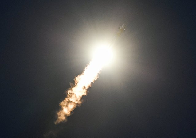 El lanzamiento de la nave espacial Soyuz