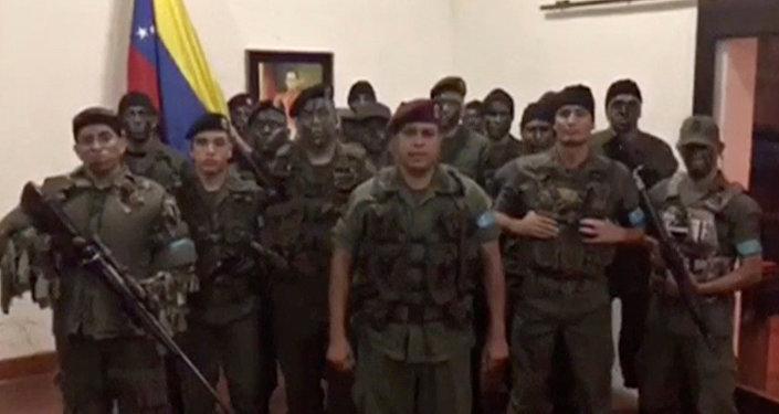 Juan Caguaripano junto a su equipo de la operación 'David Carabobo'