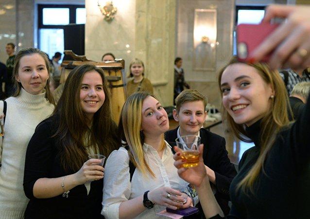 Estudiantes de primer año de la Universidad Lomonósov de Moscú