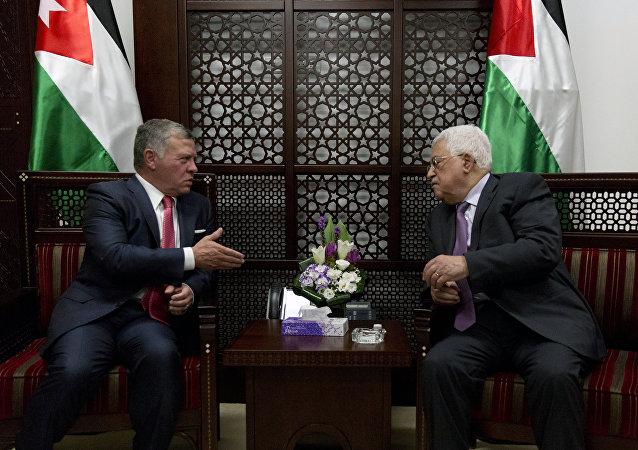 Reunión de Abdalá de Jordania y Mahmud Abás