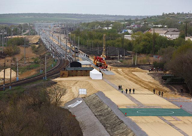 La construcción del tramo ferroviario Zhuravka-Millerovo