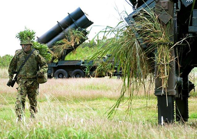 Soldado de las FFAA de Japón (archivo)