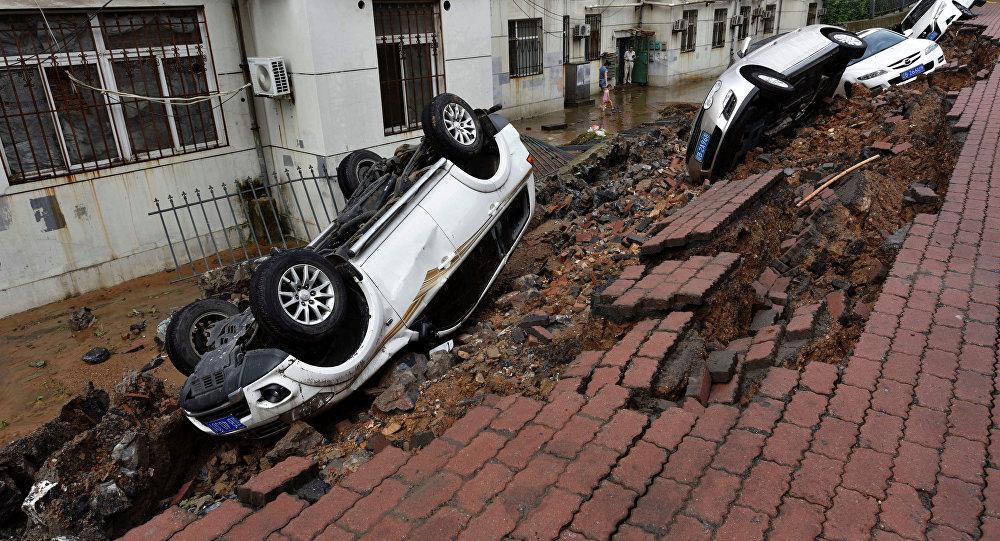 Consecuencias de fuertes lluvias en China