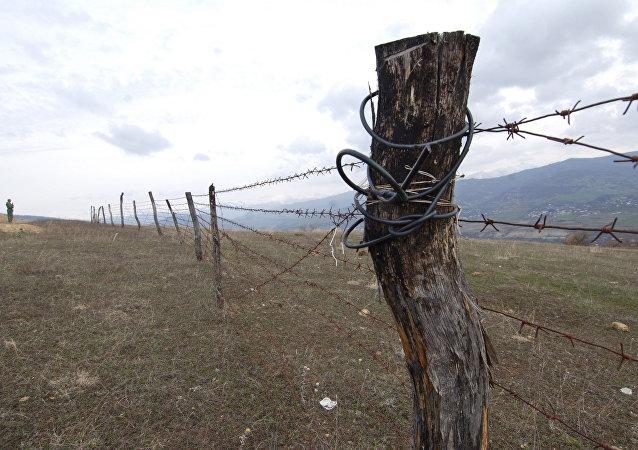 Frontera entre Georgia y Osetia del Sur