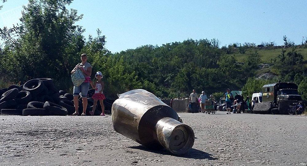 Un proyectil en Donbás