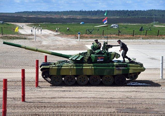 Tanque serbio en los Juegos Militares Internacionales Army Games 2017