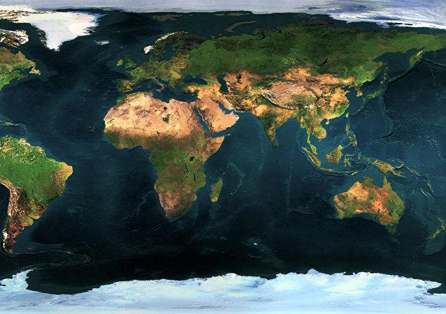 Un mapa de la Tierra (imagen referencial)