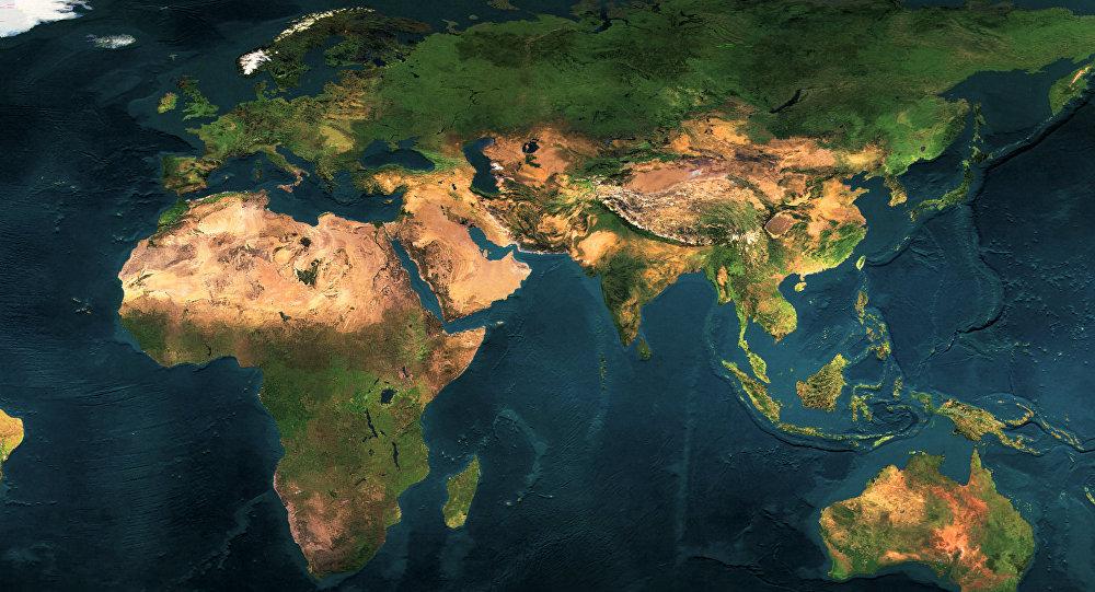 Un mapa de la Tierra