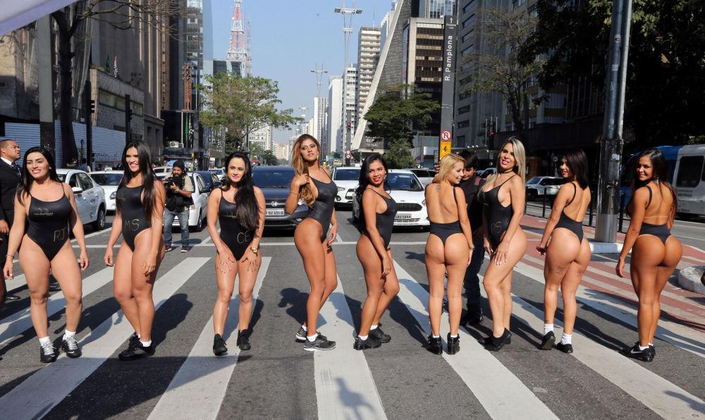 Las finalistas del concurso de belleza anual Miss BumBum