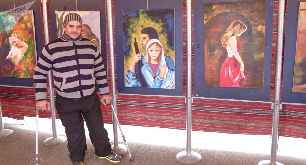 Shadi Suleiman, artista paralítico sirio