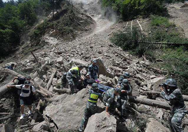 Consecuencais de un fuerte terremoto en China