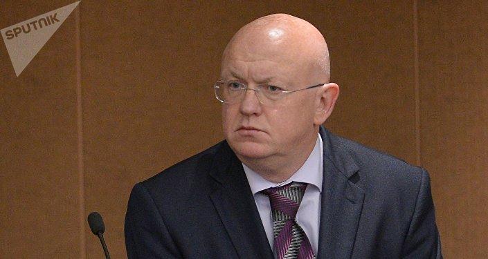 Vasili Nebenzia, el Representante Permanente de Rusia ante la ONU