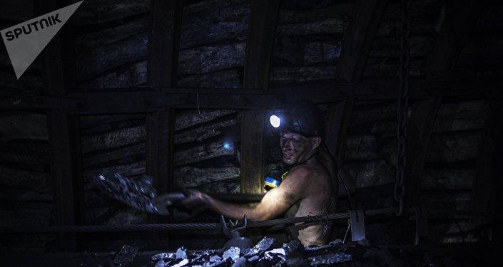 Mina de carbón en Donbás