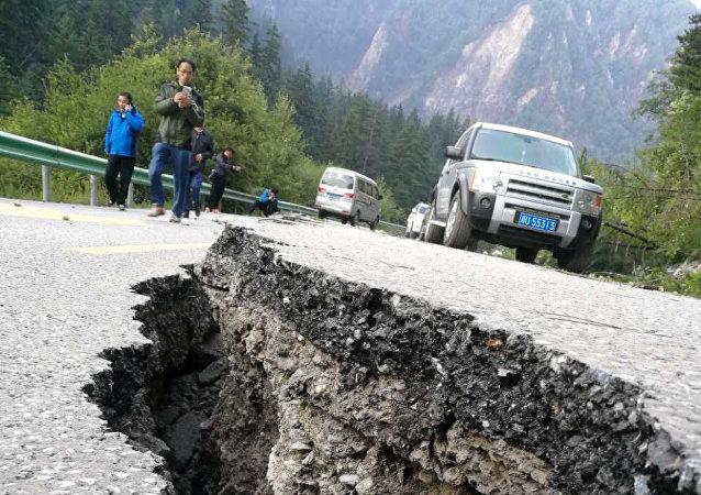 Consecuencias de un terremoto en China