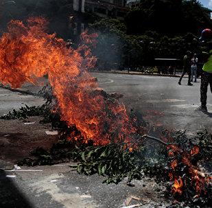 Protestas en Caracas, la capital de Venezuela