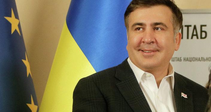 Mijaíl Saakashvili, el exgobernador de la provincia ucraniana de Odesa y líder del Movimiento de Nuevas Fuerzas