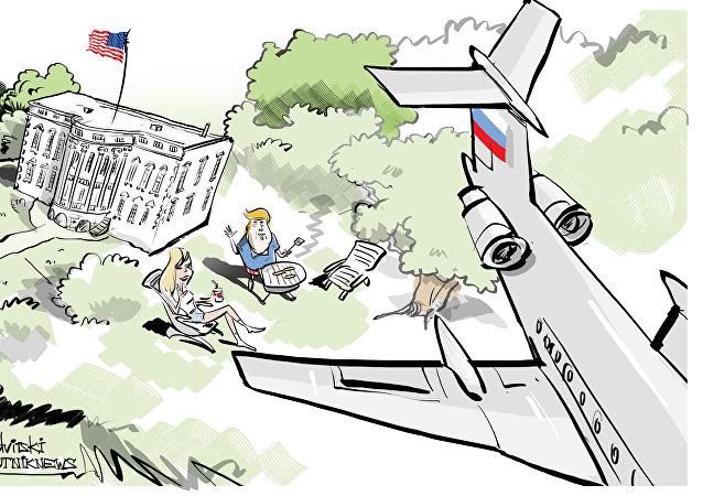 'Saludos a Donald': un avión militar ruso sobrevuela la Casa Blanca