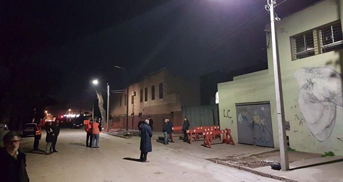 Instalación de luminarias de Incotex Electronic Group en el marco de un proyecto piloto en Montevideo.