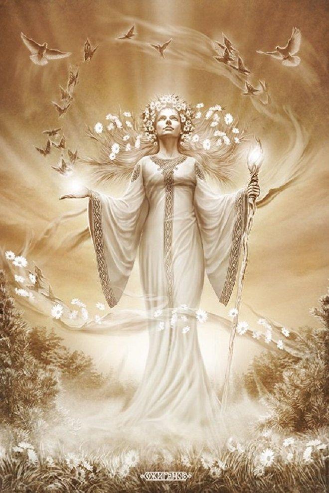 Zhiva, una diosa eslava vinculada con la vida y la fertilidad, conocida también en Europa, donde fue comparada con la romana Ceres