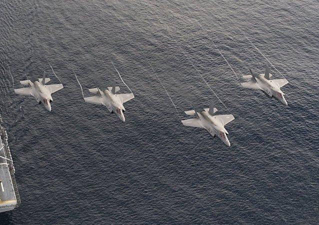 Los cazas estadounidenses F-35B (archivo)