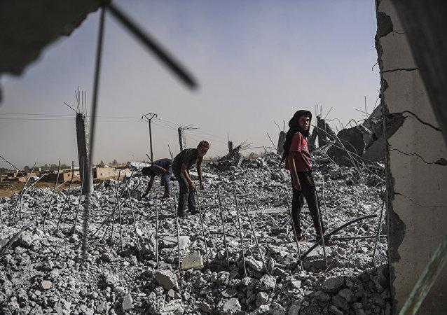 Situación en Al Raqa, Siria