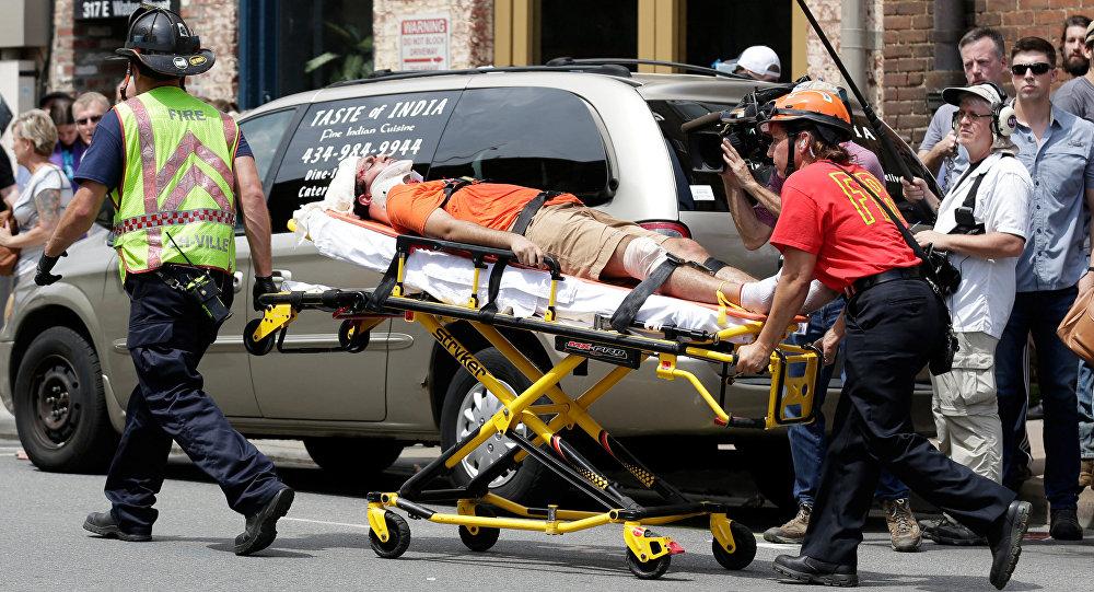 Persona herida tras el atropello en la manifestación de Virginia, EEUU