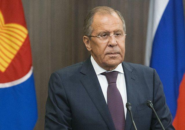 Serguéi Lavrov, ministro de Exteriores de Rusia durante la inauguración de la ASEAN
