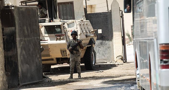 Un guardia de las fuerzas de seguridad de Egipto (archivo)