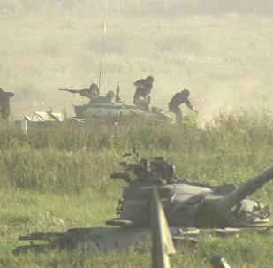 Biatlón de tanques se 'dispara' en Army Games 2017