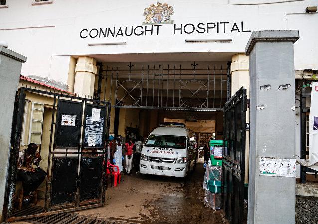 Hospital Connaught en Freetown, la capital de Sierra Leona