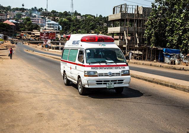 Una ambulancia en Sierra Leona (Archivo)