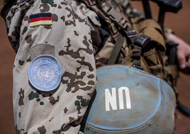 Soldado de Minusma (Misión Multidimensional Integrada de Estabilización de las Naciones Unidas en Malí)