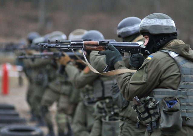 Militares de la Guardia Nacional de Ucrania (archivo)