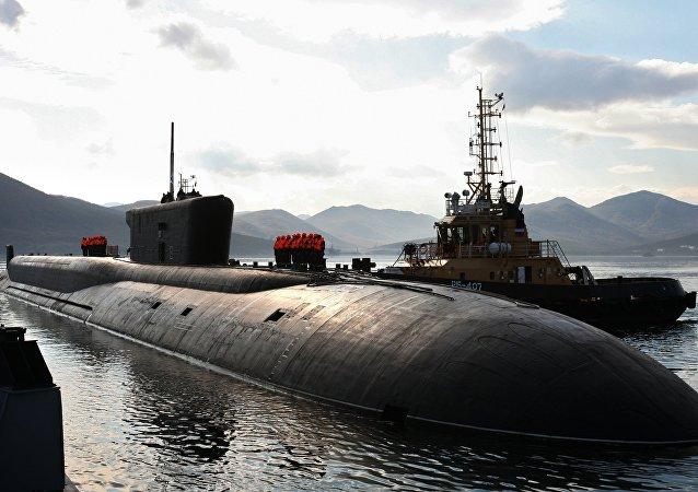 El submarino nuclear Vladímir Monomaj de la clase Borei