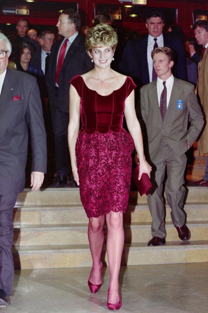 Diana antes de un acto en el Lille Congress Hall, en noviembre de 1992
