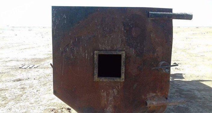 Harakka, hornos en los que producían la gasolina de destilación directa
