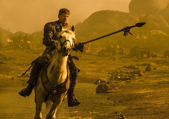 Jamie Lannister se lanza sobre el dragón Drogon